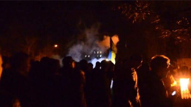 Майдановцы разнесли лагерь пророссийских активистов в Николаеве