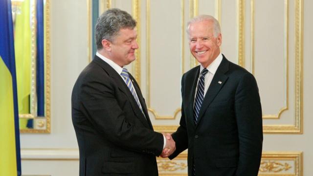 Байден и Порошенко: Будем добиваться ужесточения санкций против агрессивной России