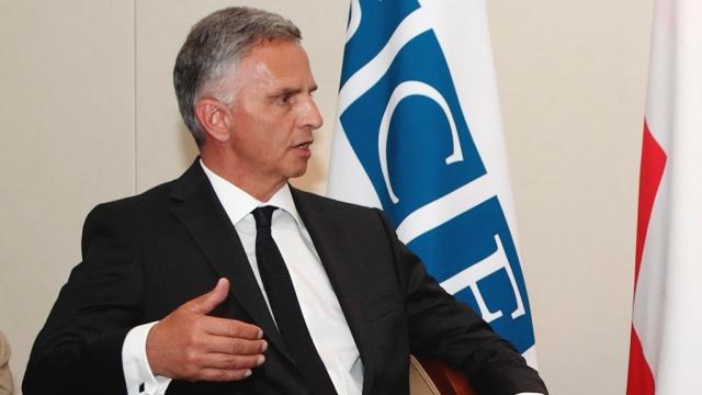 Председатель ОБСЕ призвал Россию и Украину сотрудничать в оказании гуманитарной помощи