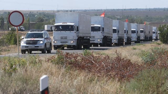 Гуманитарная колонна вернулась из Луганска в Россию