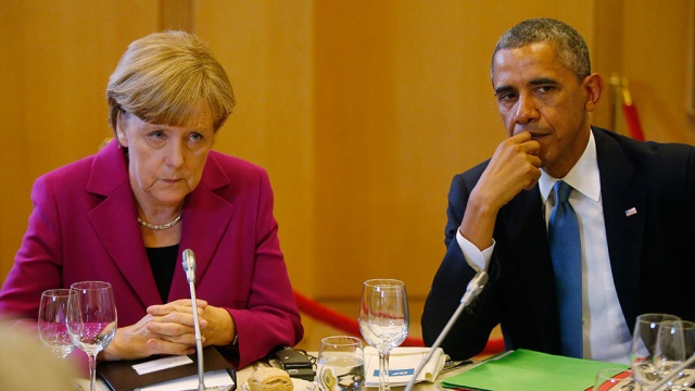 Обама и Меркель высказались за закрытие границы между Россией и Украиной