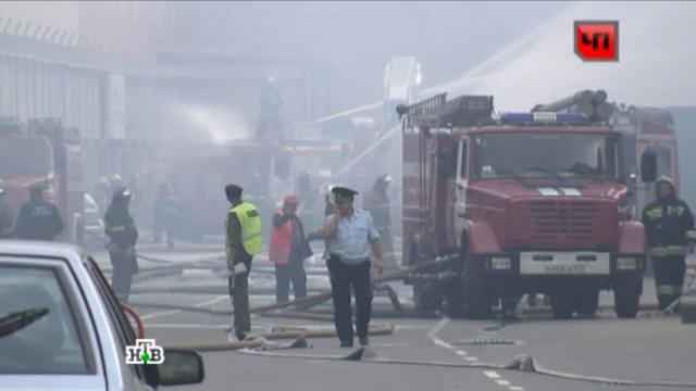 Причиной сильного пожара на юге Москвы стал взрыв баллона