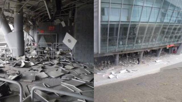 "В стадион ""Шахтёра"" угодила бомба"