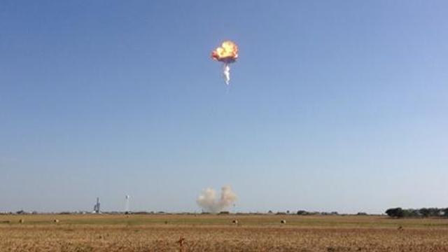 Многоразовая ракета-носитель взорвалась при испытаниях в США