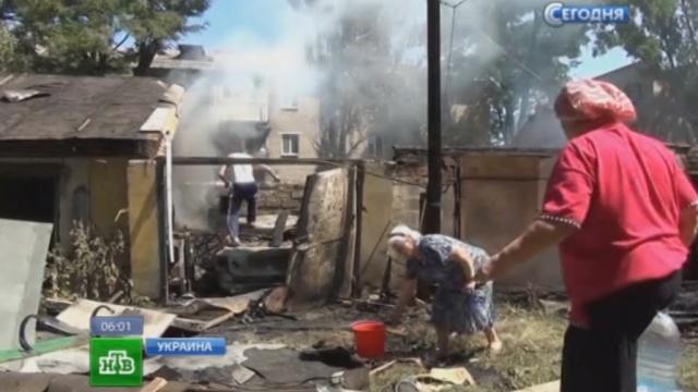 В Донецкой области снаряд разрушил храм и убил молящихся