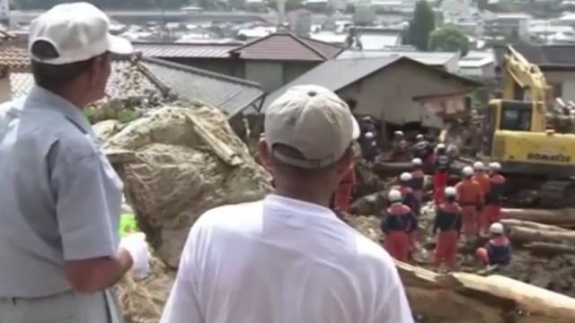 В Хиросиме растет число жертв оползня, разрушившего несколько кварталов