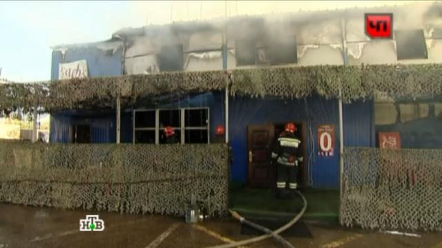 В Мамырях люди спасались бегством из горящего кафе через окна