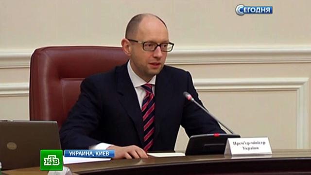 Яценюк спрятался в кабинете и отказался выйти к митингующим шахтерам