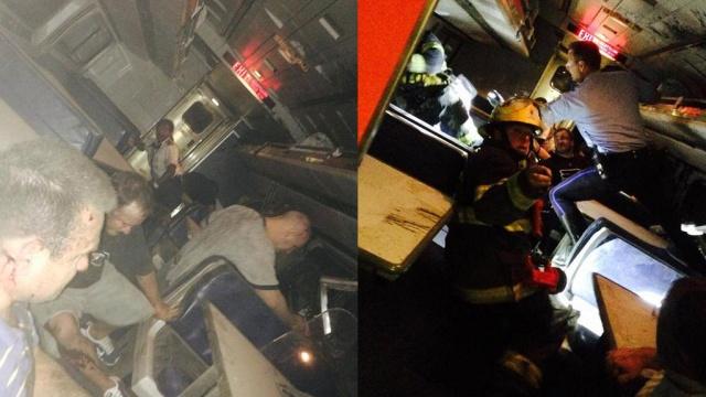В США 50 человек пострадали при крушении поезда: видео с места ЧП