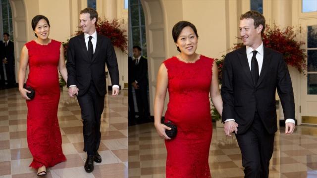 марк цукерберг показал фотографию беременной жены