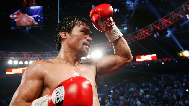 Pacquiao defeated Bradley in the battle for the WBO International title