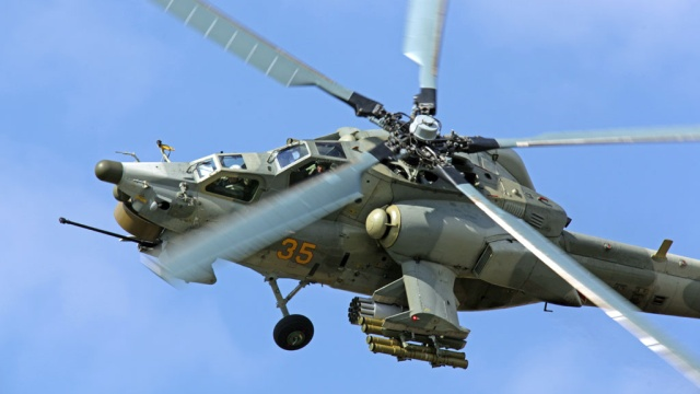 Russian helicopter Mi-28N crashed in Syria