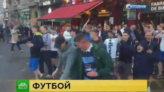 Английские болельщики устроили беспорядки в Лилле в ожидании россиян