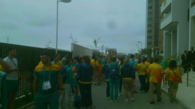 Пожар произошел в Олимпийской деревне в Рио