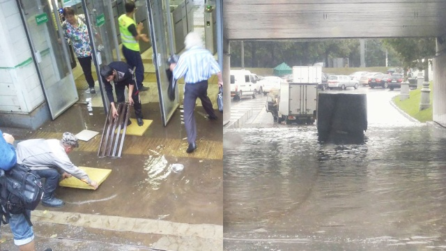 Москву затопило второй раз с начала недели