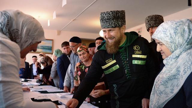 рамзан кадыров проголосовал участке родовом селении центарой