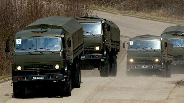 военные грузовики доставили гуманитарную помощь труднодоступный приморский поселок