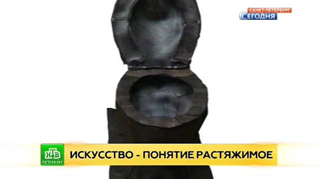 Резиновый унитаз оккупировал культурное пространство Русского музея