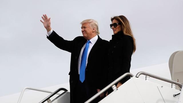 Трамп и его жена прилетели в Вашингтон на инаугурацию