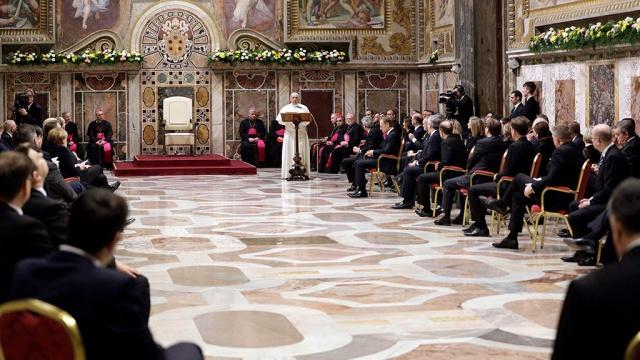папа римский принял лидеров стран евросоюза