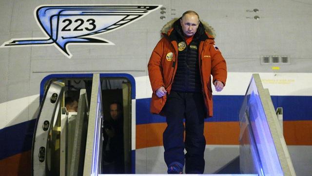 владимир путин прилетел архангельск примет участие международном арктическом