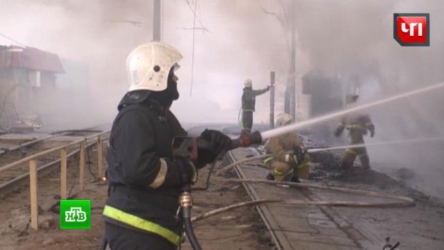 В воинской части под Курском вспыхнул артиллерийский склад
