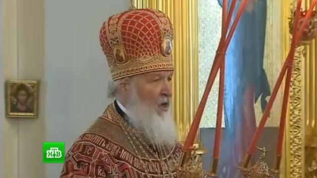 патриарх кирилл совершил литургию память святой матроне московской