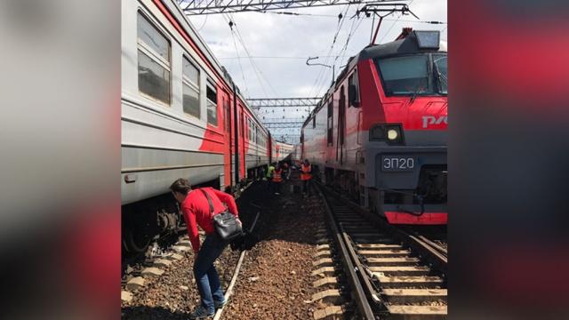 Столкновение поездов на Курском вокзале: есть пострадавшие