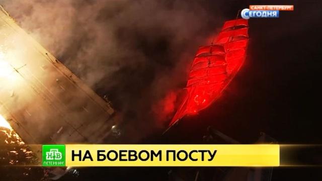 петербургские спасатели предотвратили множество водных инцидентов алых парусах