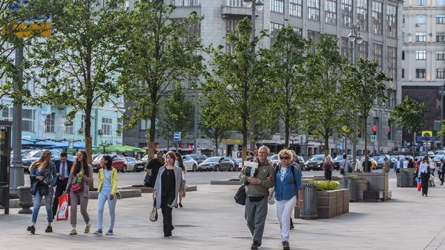 Благоустройство на Тверской улице завершится в середине августа
