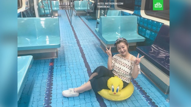 В Тайбэе к Универсиаде поезда метро превратили в бассейны и спортивные арены