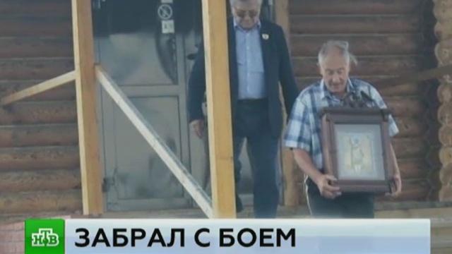 Олимпийский чемпион Тихонов со скандалом забрал подаренную храму икону