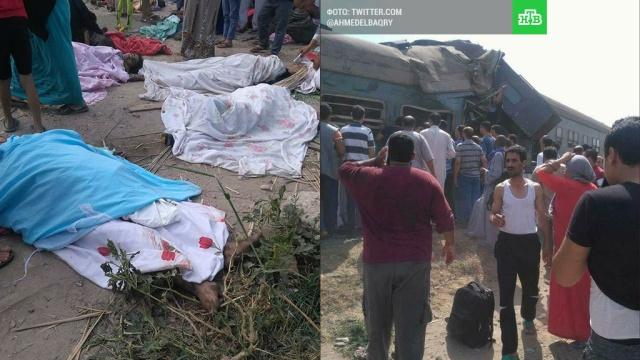 Растет число погибших при столкновении поездов в Египте