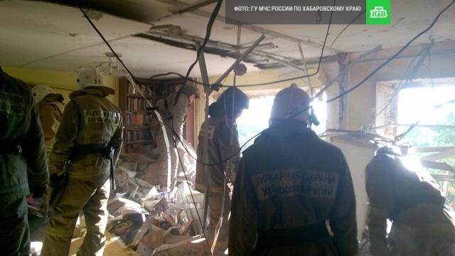 В многоэтажном доме в Хабаровске произошел взрыв газа