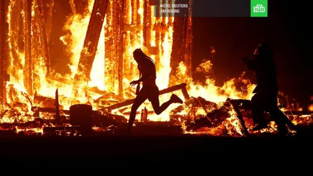 Мужчина сгорел в костре на фестивале Burning Man в США: фото