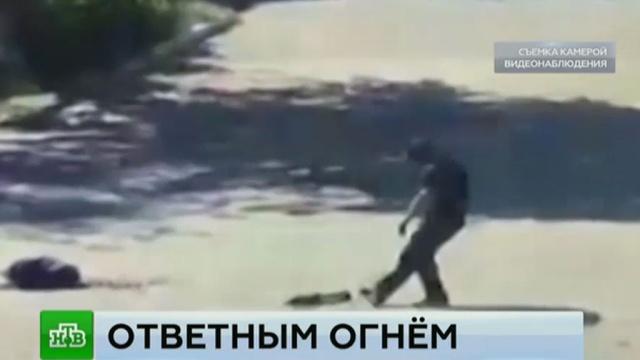 Ликвидацию главаря боевиков в Дагестане сняла камера наблюдения