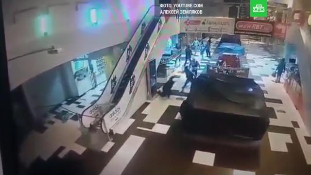 В Екатеринбурге 13 налетчиков с палками устроили погром в торговом центре: видео