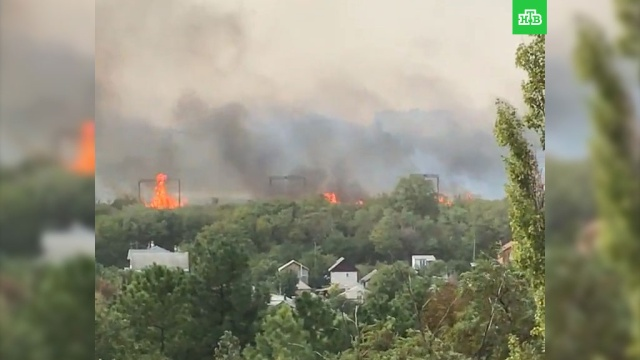 Жилые дома загорелись неподалеку от зоопарка в Ростове-на-Дону