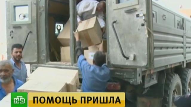 Российские военные привезли лекарства в полуразрушенную больницу Дейр-эз-Зора