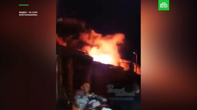Страшно: ростовчане шокированы мощным пожаром на рынке