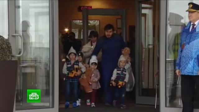 С подконтрольных ИГИЛ территорий в Москву доставили 5 маленьких россиян