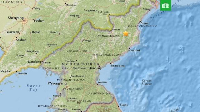 Геологическая служба США зафиксировала подземные толчки в районе ядерного полигона КНДР