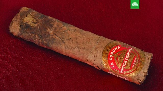 Окурок сигары Черчилля ушел с молотка за 12 тысяч долларов