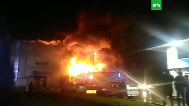 Площадь пожара в Чехове возросла до трех тысяч метров