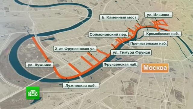 В Москве перекрыт ряд улиц из-за карнавала в честь фестиваля молодежи