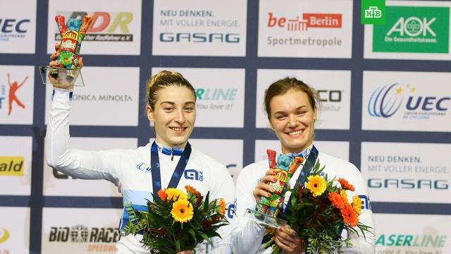 Войнова и Шмелева завоевали золото в командном спринте на ЧЕ по велотреку