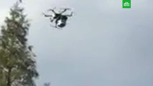Вышедший из-под контроля дрон покалечил шесть человек в Японии: видео
