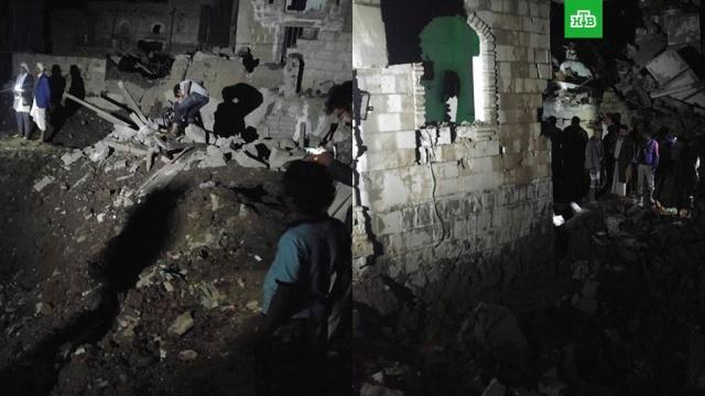 СМИ: арабская коалиция нанесла авиаудары по столице Йемена