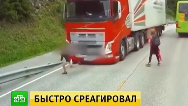 Дети чудом избежали гибели под колесами грузовика в Норвегии