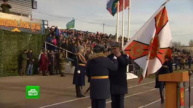 Первый в Крыму десантно-штурмовой батальон ВДВ получил боевое знамя